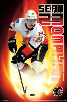 Calgary Flames - S Monahan 14 by Melissa Majchrzak People Poster - 56 x 86 cm Vancouver Canucks Logo, Hockey Pictures, Ice Hockey Teams, Event Poster Design, Chicago Blackhawks, Hockey Players, Calgary, Ufc, Poster Prints