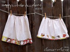 How to make a skirt from a fitted sheet, tutorial from Choose to Thrive.