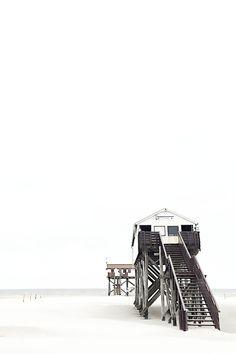 stilts houses Sankt Peter Ording Germany