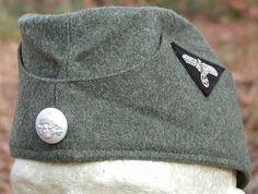 d31c7eaf117 SS- VT (Verfügungstruppe) EM NCO Feldgrau Wool Feldmütze (Mützen) Gestapo