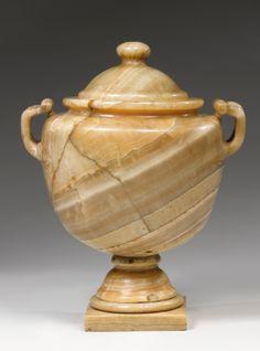 an alabaster cinerary urn probably eg   vases   sotheby's n08871lot6dzf2en