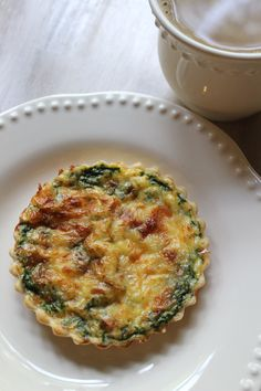 Individual Quiche Recipe that can be made ahead; freezer meal; make ahead breakfast; quiche recipe with bacon, spinach, mozzarella; the best individual tart pans