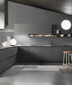 ONE by Ernestomeda #kitchen #grey @ernestomeda