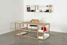 Lap Desk + Lap Wall shelving dressed