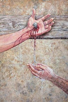 Through His blood we are saved.