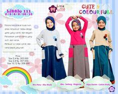 Baju Longdress Anak Bahan Combed Little Mutif Model LM-111