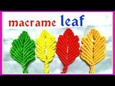 DIY Macrame leaf Design\ Pattern \Keychain tutorial in hindi Macrame Bag, Macrame Earrings, Macrame Knots, Macrame Jewelry, Door Hanging Decorations, String Crafts, Tatting Jewelry, Micro Macramé, Macrame Design