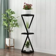 tall Standing flowerpoin the living room and balcony vase Geometric Furniture, Metal Furniture, Home Decor Furniture, Furniture Design, Garden Shelves, Plant Shelves, Homemade Home Decor, Easy Home Decor, House Plants Decor