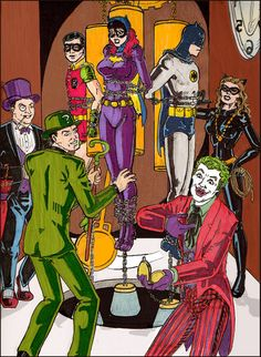 images of the  60s and 70s cartoons series | Batman 60s villains tribute by ChadtheH on deviantART
