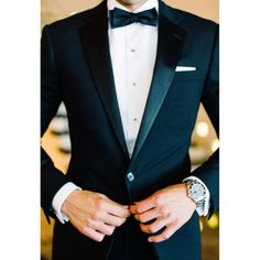 Classic Groom Attire, Black, White & A Bow Tie