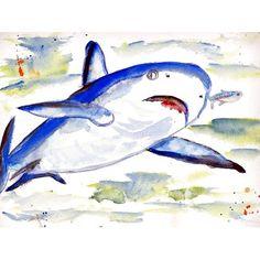 Betsy Drake Shark Place Mats