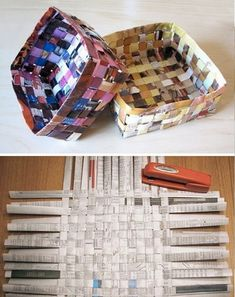 Something to make with the kids this summer using old magazines. Great way to teach them how to recycle.