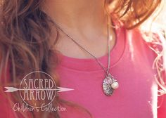 """14"""" Girls' Silver Diffuser Necklace - Pink Sparkle – Sacred Arrow"""