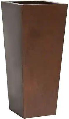 PLUST - Designový květináč KIAM gloss pot, 25 x 25 cm - hnědý Canning, Home Canning, Conservation