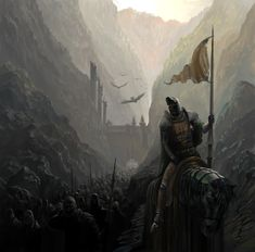 Moritarc troops marching down the canyons towards the Adelfian border, preparing to invade. (Son of the Shield) Just change the emblem on the armor to a rising sun, and it's perfect!