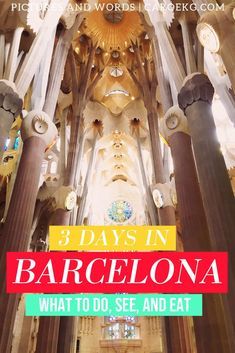 This comprehensive 3 days in Barcelona itinerary is packed full of insider tips on what to do, where to eat, where to stay, how to get around, and more! Barcelona Travel Guide, Spain Travel Guide, Europe Travel Tips, Barcelona Trip, Barcelona Food, Barcelona Spain, Travelling Europe, Travel Articles, Travel Destinations