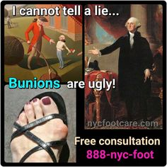 It's a Declaration of Foot Independence. Call us for a free consultation. 888-nyc-foot / nycfootcare.com #NYC #ouch #celebrity #cosmetic #toes #makeup #manhattan #bronx #brooklyn #queens #fashion...
