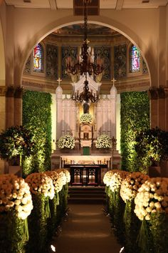 Adriana Bruno Constance Zahn Church Wedding Decorationschurch