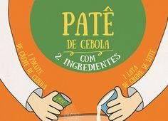 RECEITA-ILUSTRADA 152: Pão de Linguiça calabresa - http://www.mixidao.com.br/receita-ilustrada-153-pate-de-cebola/