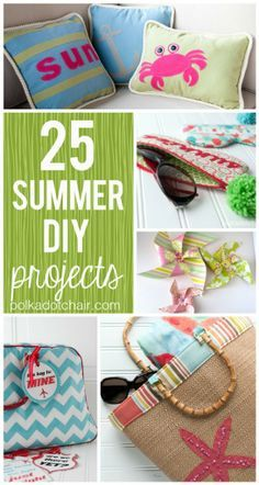 Diy Sewing Projects In the mood to make something? Here are 25 Summer DIY Projects for you to try! - Here are 25 fun Summer DIY Projects. From sewing projects to home improvement projects there's a little DIY for everyone! Summer Diy, Summer Crafts, Fun Crafts, Happy Summer, Summer Ideas, Sewing Projects For Beginners, Diy Projects To Try, Craft Projects, Sewing Hacks