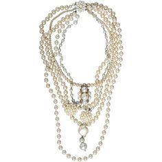 Multi Strand Pearl Necklace ($135) ❤ liked on Polyvore featuring jewelry, necklaces, accessories, fillers, jewels, women, multiple strand pearl necklace, layered chain necklace, pearl jewelry and pearl necklace