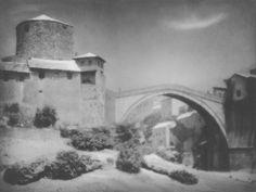 Tadeusz Wański collection / Mostar, Most rzymski / Chorwacja / 30 x 40 cm, bromolej