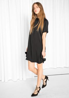 & Other Stories image 1 of A-line Dress in Black