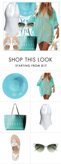 """Beach Bound"" by misshonee ❤ liked on Polyvore featuring Echo Design, Canvas by Lands' End and Jack Rogers"
