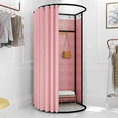 Shopping mall temporary mobile fitting room clothing store landing portable foldable simple dressing room display rack door curt - AliExpress Source by store design Dressing Room Design, Outdoor Wall Art, Mobile Boutique, Changing Room, Art Furniture, Industrial Furniture, Stores, Shopping Mall, Showroom