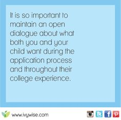 Have discussions with your child about college.