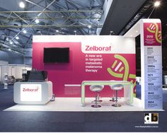 Small stand does not mean small, nasty looking graphics.  Keep the message count low and the impact high like this Roche stand @ COSA 2013!