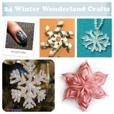 24 Homemade Snowflake Crafts