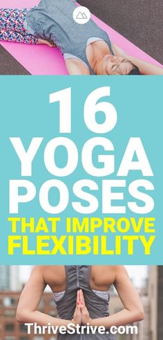 Want to improve your flexibility with yoga? These 16 yoga poses will not only improve your flexibility but also help you burn fat and build lean muscle. Yoga Poses For Men, Basic Yoga Poses, Yoga Poses For Beginners, Yoga Tips, Yoga For Men, Fitness Del Yoga, Videos Yoga, Yoga Iyengar, Beginner Yoga Workout