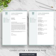 Reference Page Resume Template Inspiration Resume Template With Photo  Photo Resume  Cv Template For Word  1 .