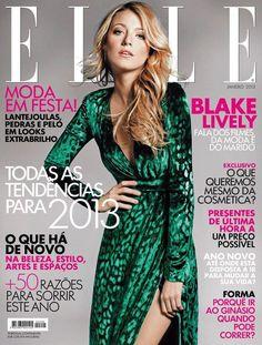 Blake Lively for 'Elle' magazine cover  January 2013 Portugal