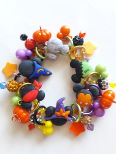Your place to buy and sell all things handmade Mickey Mouse Halloween, Disney Jewelry, Cute Bracelets, Super Cute, Beads, Gifts, Etsy, Beading, Presents