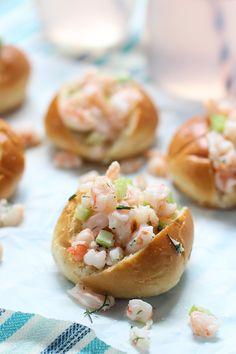 Mini Shrimp Rolls on Buttered Challah