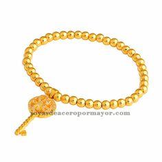 pulsera de llave en oro laminado BRBTG00043
