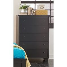 Shop Progressive Furniture Diego Black Drawer Chest with great price, The Classy Home Furniture has the best selection of Drawer Chests to choose from Black Bedroom Furniture, Cool Furniture, Modern Furniture, Black Drawers, Wood Drawers, 5 Drawer Chest, Chest Of Drawers, Drawer Fronts, Black Wood