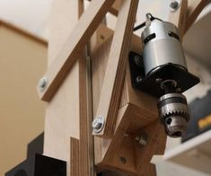Making the Drill Press. Is It Worth It? [Build + Tests] : 17 Steps (with Pictures) - Instructables Drill Press Diy, Homemade Drill Press, Drill Press Stand, Woodworking Workbench, Woodworking Shop, Diy Easel, Workshop Layout, Workshop Ideas, Speed Square