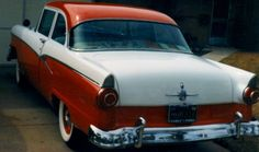 My first car - 1956 Ford Customline.
