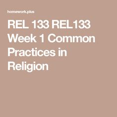 World Religions Homework Help