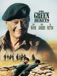 The Green Berets ~ Starring: John Wayne, David Janssen and Jim Hutton Old Movies, Vintage Movies, Great Movies, Films Cinema, Cinema Posters, Movie Posters, Love Movie, Movie Tv, John Wayne Movies