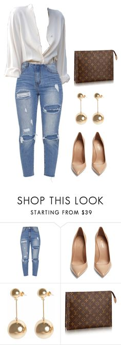 """simple."" by stephchika ❤ liked on Polyvore featuring Yves Saint Laurent, J.W. Anderson and Louis Vuitton"