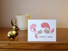 Even your Farts are Cute note card by thebeautifulproject on Etsy, $4.00