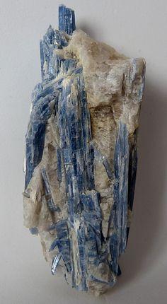 KYANITE (Aluminum Silicate) crystals with milky quartz from Minas Gerais, Brazil.