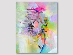 Original abstrakte Malerei auf Papier von ARTbyKirsten auf Etsy