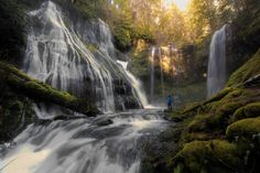 Panther Creek Falls from below.- 30 Must-See Waterfalls + Hikes in Washington