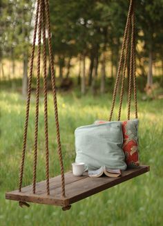 Porch Swing / Bench – Outdoor Seating – Rope Swing – Tree Swing - All For Garden Porch Swing Pallet, Farmhouse Porch Swings, Diy Swing, Patio Swing, Pallet Swings, Garden Swing Seat, Bench Swing, Wood Swing, Wooden Tree Swing