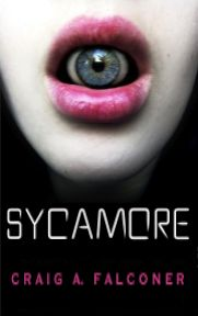 http://bookbarbarian.com/sycamore-by-craig-a-falconer/ Imagine a world where your eyes can't be trusted...  When the Sycamore corporation releases the ultimate gadget -- an implantable microchip designed to replace smartphones -- society rapidly descends into dystopia.  Augmented reality contact lenses act as the new system's display, simultaneously recording everything in the user's field of vision. The potential applications are limitless. So are the surveillance opport